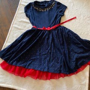 Nautica Blue and Red Dress